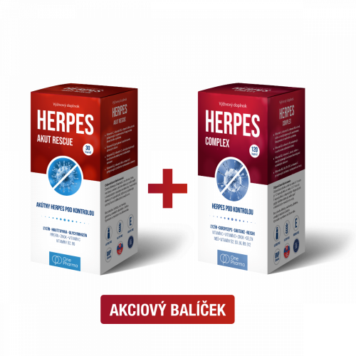AKCIA: HERPES AKUT RESCUE + HERPES COMPLEX